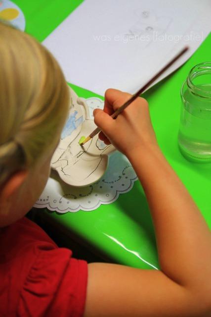 Kindergeburstag: Schalen glasieren | Schmetterlingschale | waseigenes.com
