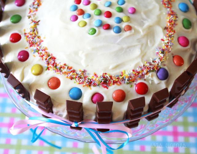 Kinderriegel Torte | Geburtstagskuchen | waseigenes.com 1