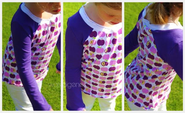 Antonia Schnittmuster   Shirts selbernähen   Apfeljersey   Mama & Kind   was eigenes Blog