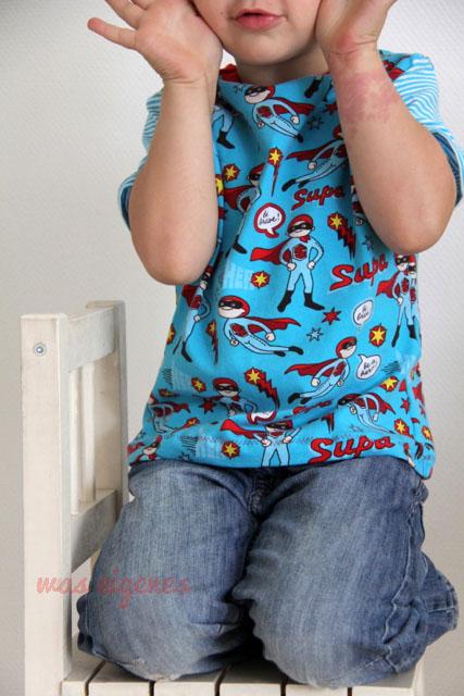 Jungs Shirt Supahero | waseigenes.com DIY Blog