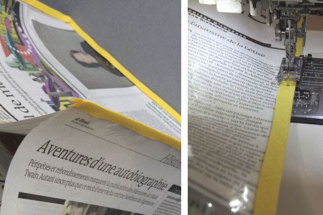 Nähanleitung | Tote bag aus einer Zeitung | Zeitungstasche | Le Monde | waseigenes.com