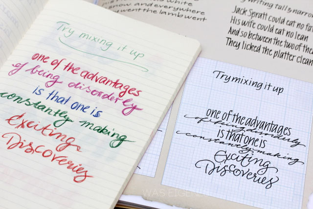 Hand Lettering | simple tools and materials to create beautiful and graceful calligraphy | was eigenes Blog