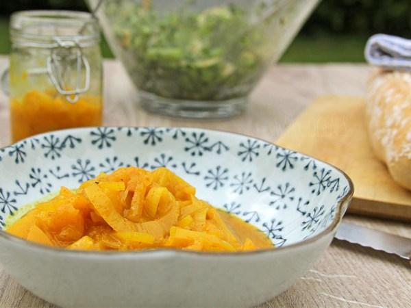 Buchtipp Mein Grillvergnügen - Rezept Curry Pfirsich Chutney und Bohnensalat | waseigenes.com
