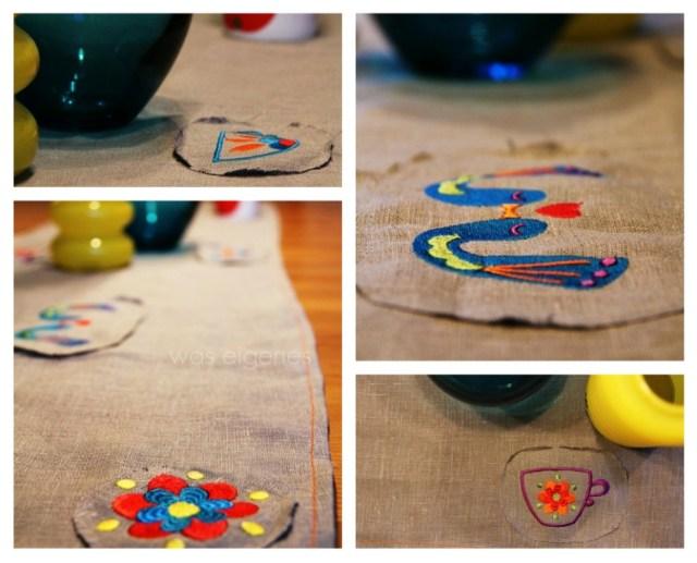 Tischläufer aus Leinen selber nähen und mit Blumen besticken | waseigenes.com DIY Blog