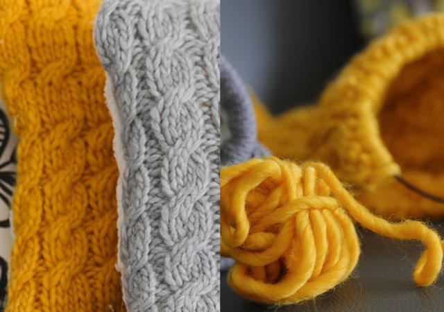 DIY Knitting | Sofakissen stricken | waseigenes.com
