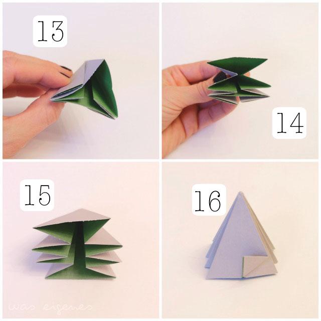 Brief Falten Nach Innen Aussen : Origami diamant
