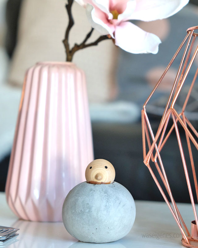 Wohnzimmer | rosa grau schwarz weiss kupfer | Einrichtung | waseigenes.com
