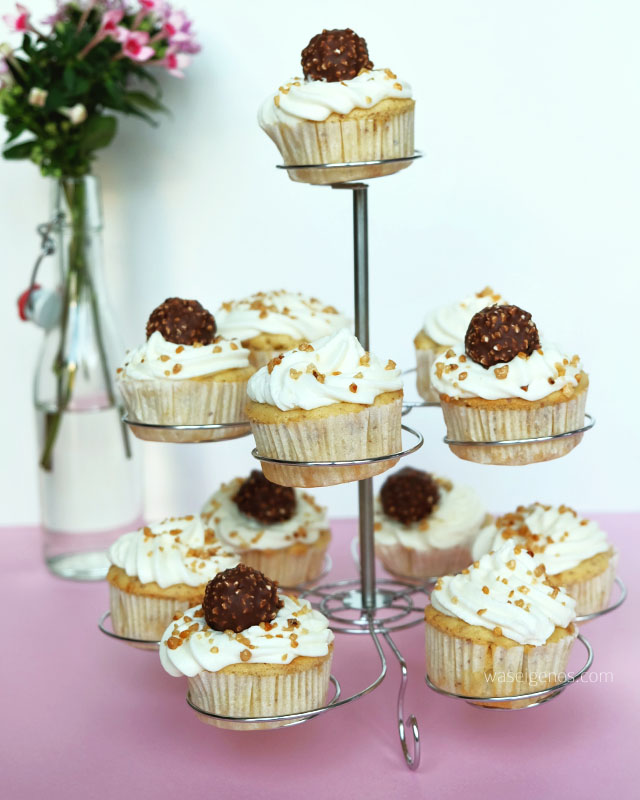 Rezept: Ferrero Rocher Cupcakes | waseigenes.com Blog