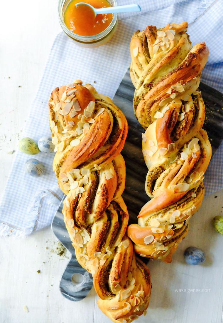Rezept: Hefezopf mit Pistazien und Aprikosenmarmelade | waseigenes.com