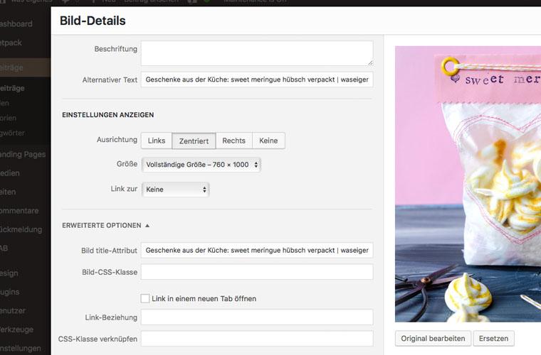 Blog Bild Optimierung für Pinterest und Google Bildersuche durch Alternativ Text und Bild Title Attribut | waseigenes.com