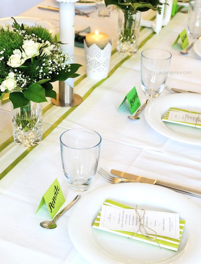 Tischdekoration Kommunion maigrün | waseigenes.com