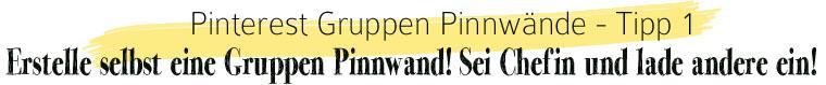 Pinterest Gruppen Pinnwand: Erstelle eine eigene Gruppen Pinnwand und lade andere dazu ein | waseigenes.com