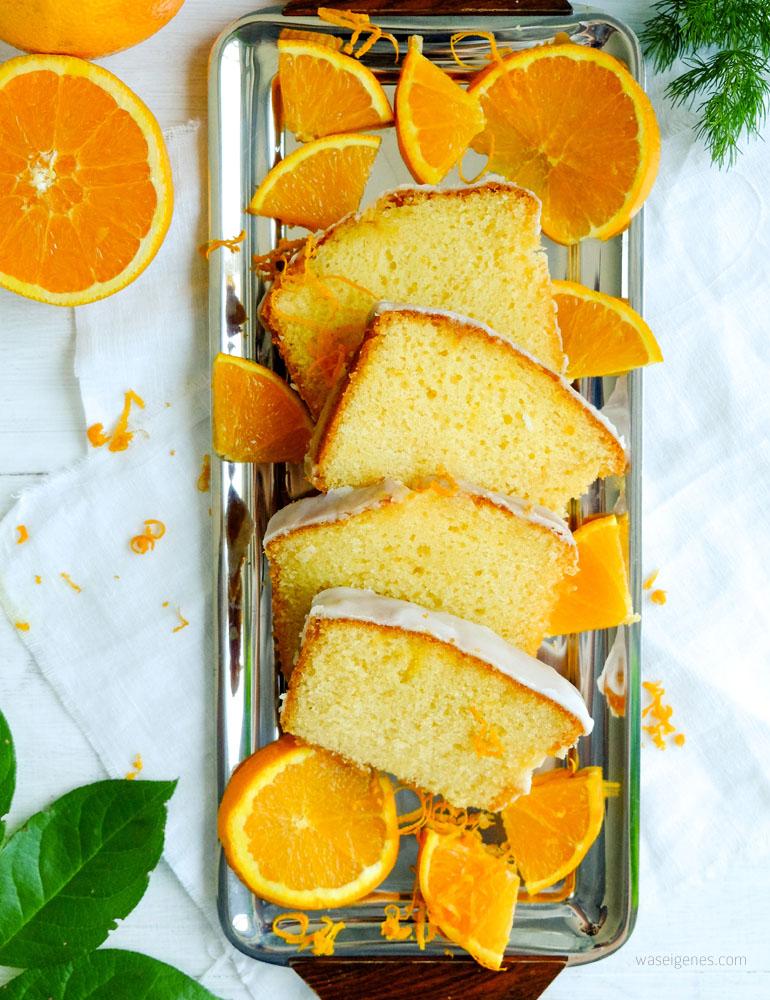 Rezept: Orangenkuchen mit Zuckerguß | Saftig fluffiger Orangenkuchen #Rezept #Orangenkuchen #Kuchen #backen waseigenes.com Blog
