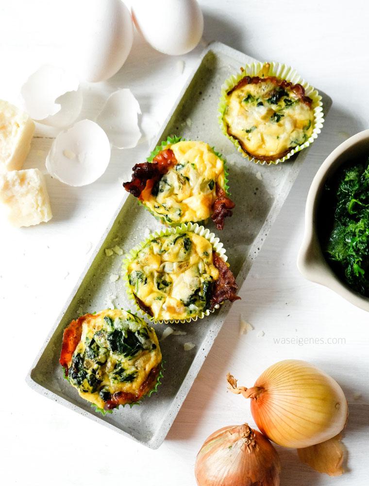 Rezept: Herzhafte Eier-Spinat-Muffins mit Speck und Parmesan | waseigenes.com