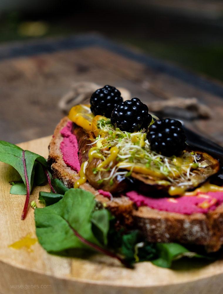 Sandwich Auberginen, Zucchini, Brombeeren | Fotoworkshop | waseigenes.com
