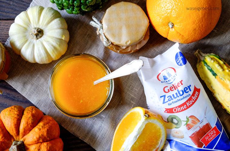 Rezept: Herbstliche Orangen Kürbis Marmelade | Diamant Gelierzauber | waseigenes.com