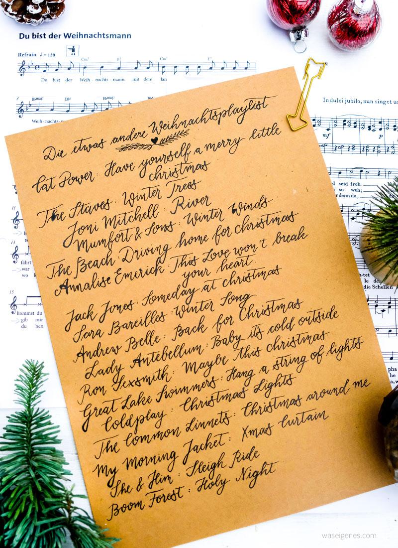 Die etwas andere Weihnachtsplaylist | Weihnachtsmusik | Weihnachtslieder | Kalligrafie | waseigenes.com