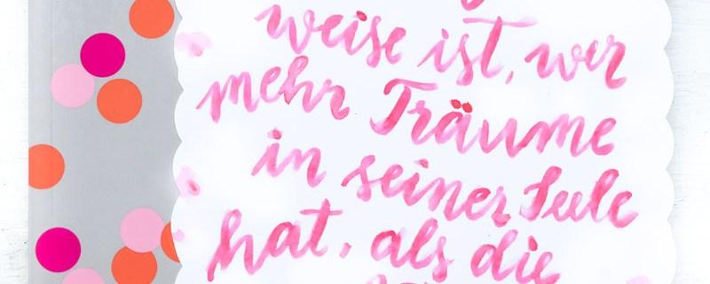 Wirklich weise ist, wer mehr Träume in seiner Seele hat, als die Realität zerstören kann   Adventskalender der guten Gedanken   waseigenes.com