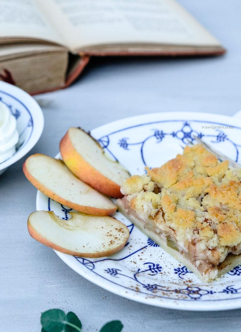 Rezept:  Apfel-Streusel-Kuchen vom Blech, ein Herbstklassiker | waseigenes.com