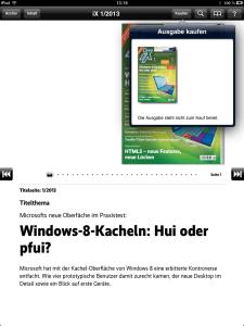Geht nicht, gibt's nicht? Bei der aktuelle iX in der iPad-App schon.