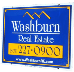 Washburn Real Estate Sign, Luxury Homes in Utah