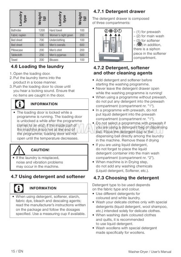 Beko WDX8543130B Front Load Washer User Manual