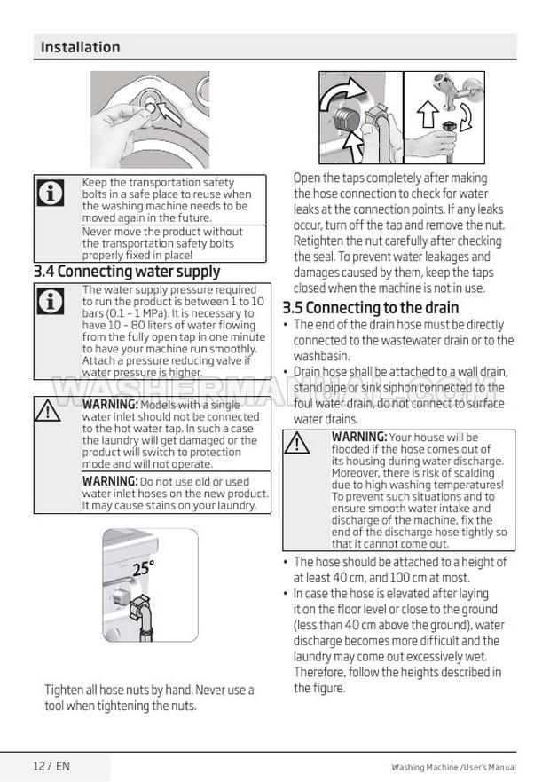 Beko WI1483 Washing Machine User Manual