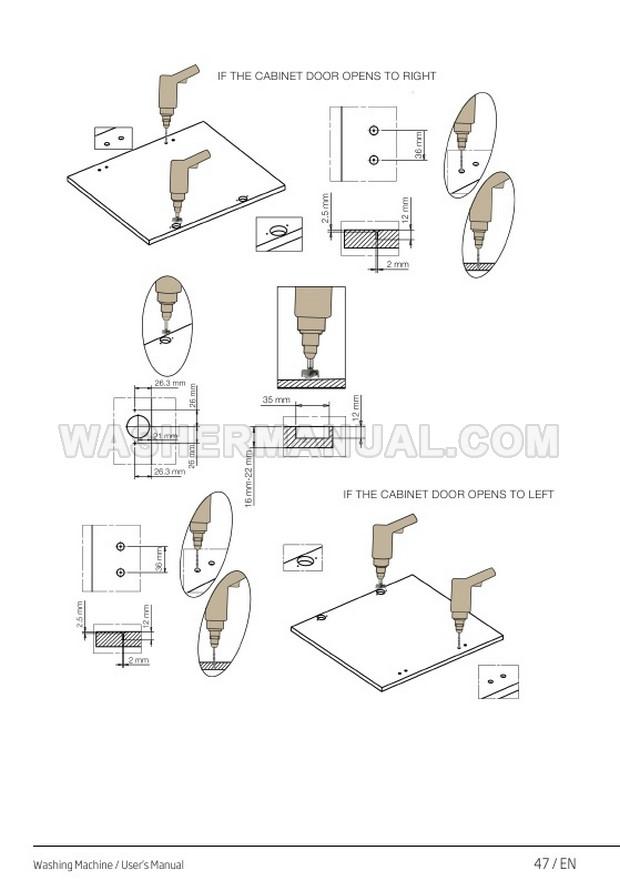 Beko WIR725451 Front Load Washing Machine User Manual