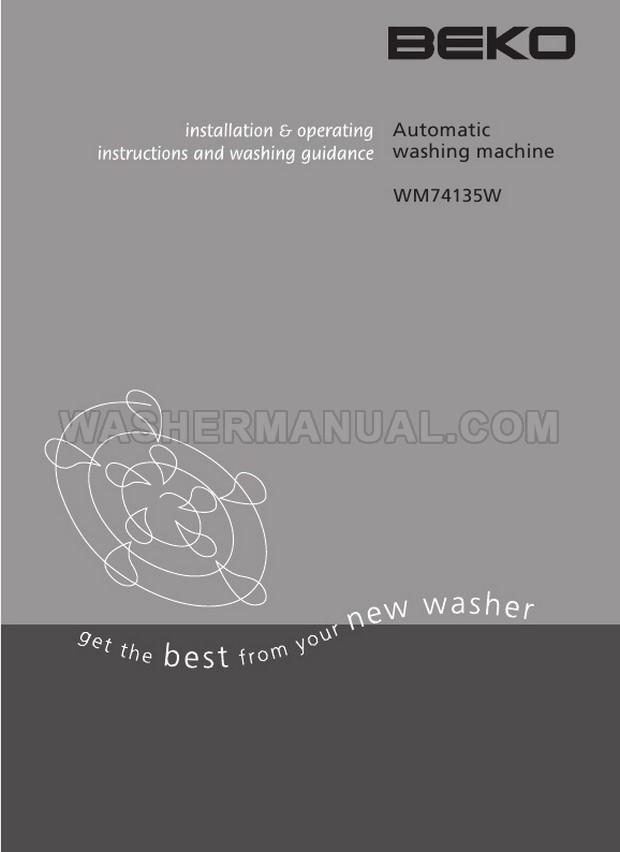 Beko WM74135W Front Load Washing Machine Installation