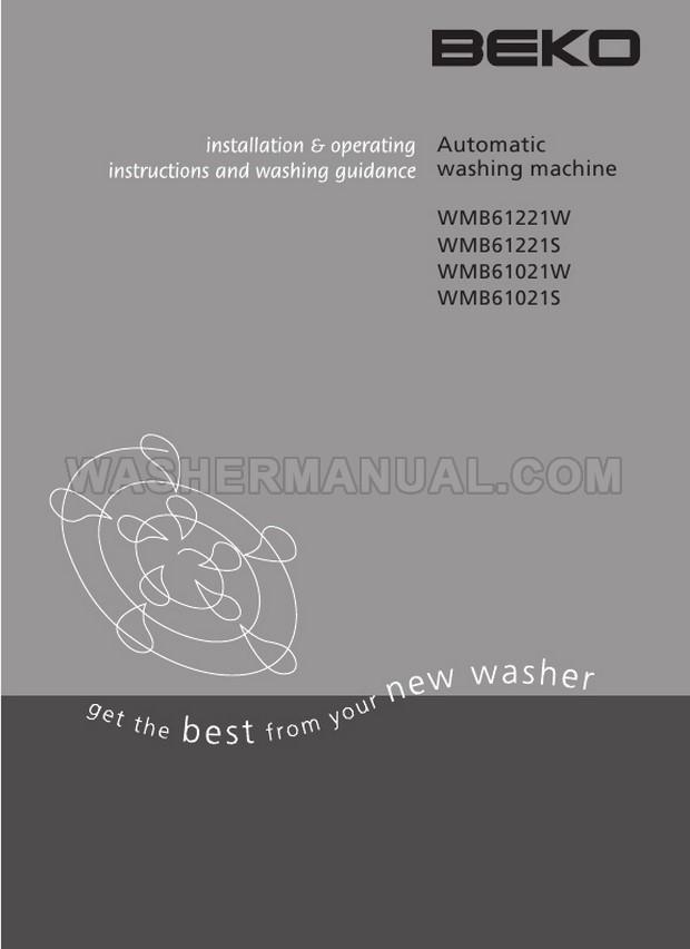 Beko WMB61221W Front Load Washing Machine Installation