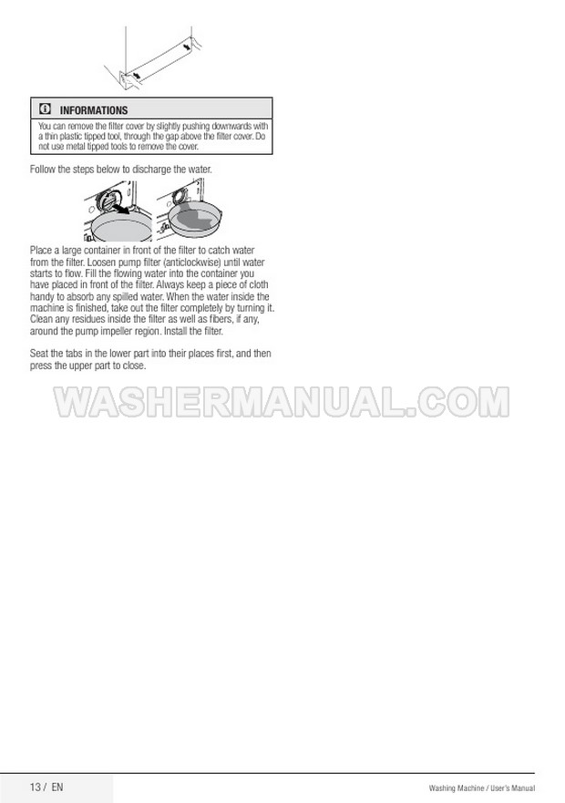 Beko WMP511S Front Load Washer User's Manual