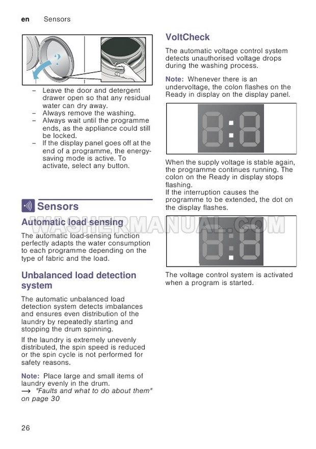 Bosch WAK24168IN Front Load Washer Instruction Manual and