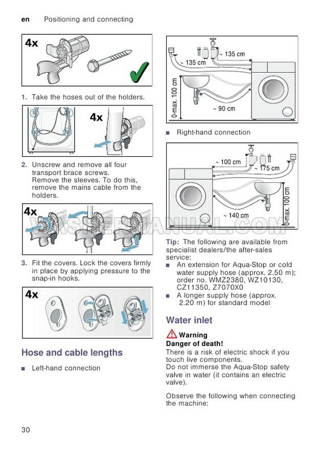 Bosch WAT28371GB Washing Machine Instruction Manual and