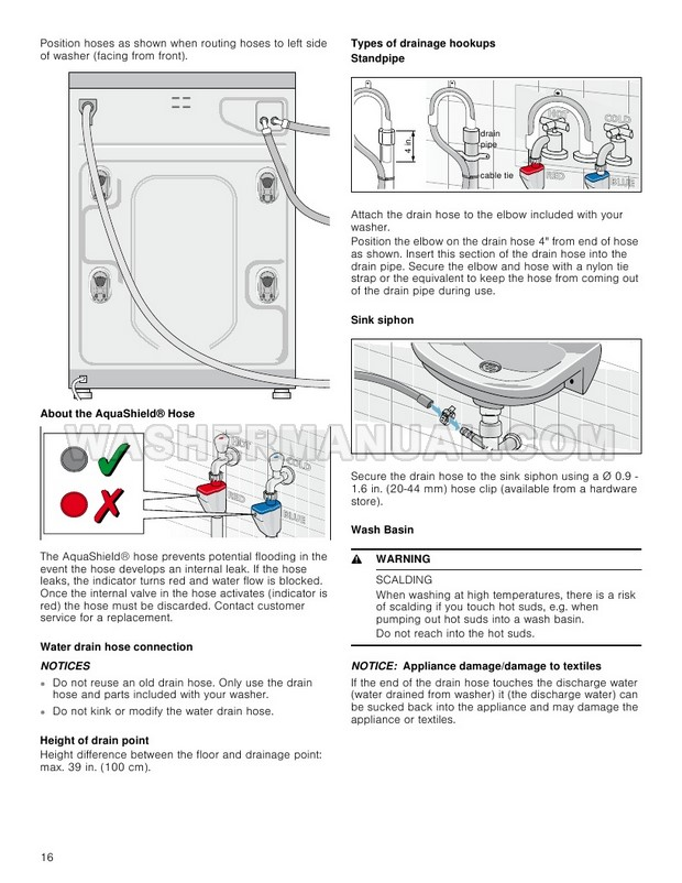 Bosch WAT28401UC Washer Use and Care Manual