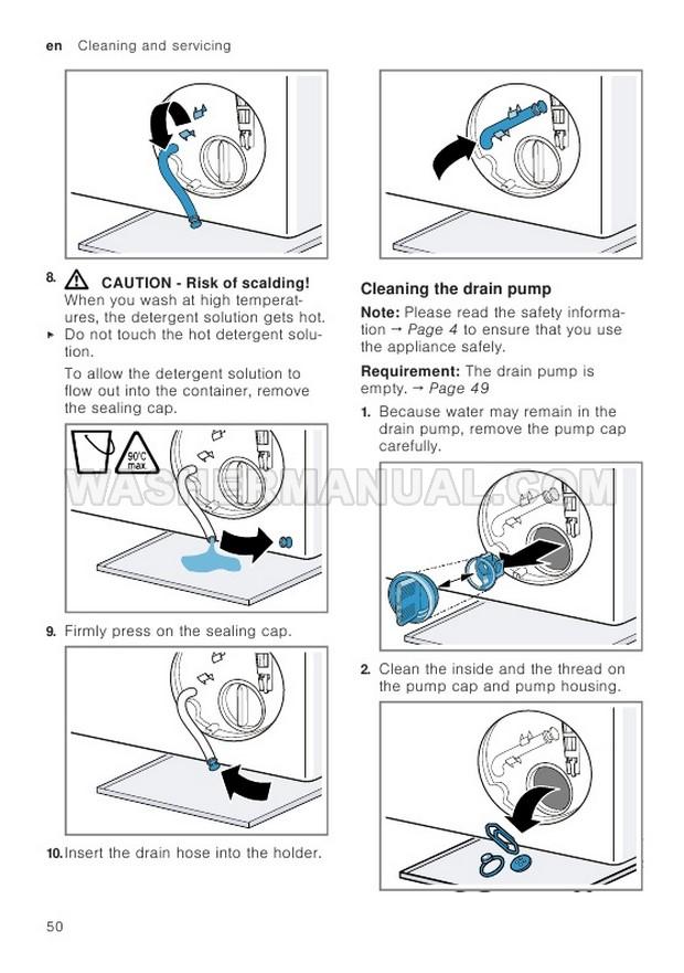 Bosch WAV28KH9GB Washer Instruction Manual and