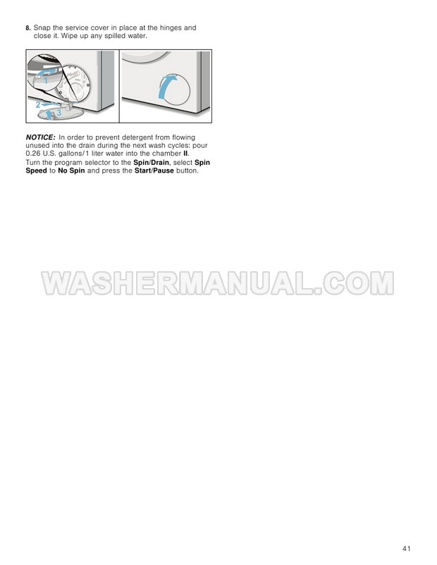 Bosch WAW285H2UC 800 Series Washing Machine Use and Care