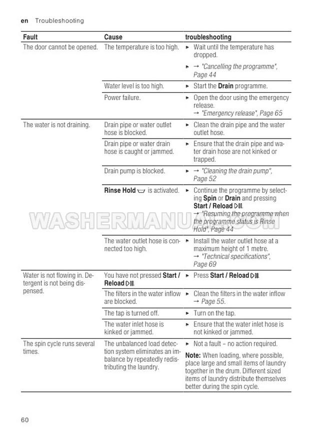 Bosch WAX32GH1GB Front Load Washing Machine Instruction