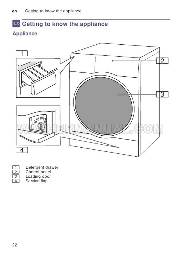 Bosch WDU28560GB Washing Machine Instruction Manual and