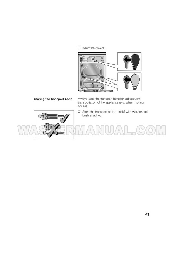 Bosch WFL 2260 Washing Machine Instruction Manual and