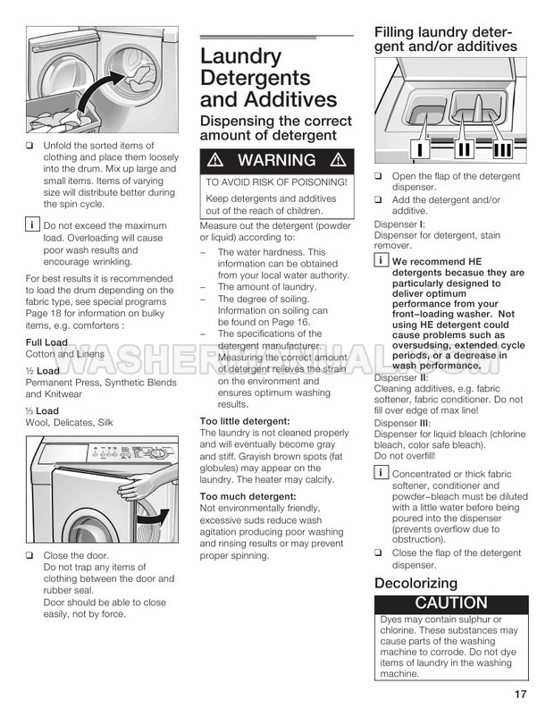 Bosch WFMC2100UC Front Load Washer Operating and