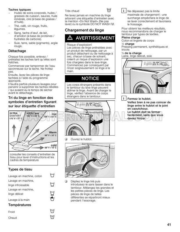 Bosch WFMC544SUC Front Load Washer Operating and