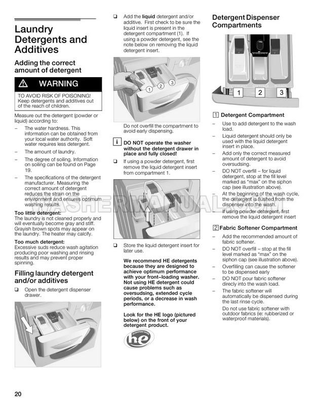 Bosch WFVC3300UC Vision 500 Series Washing Machine