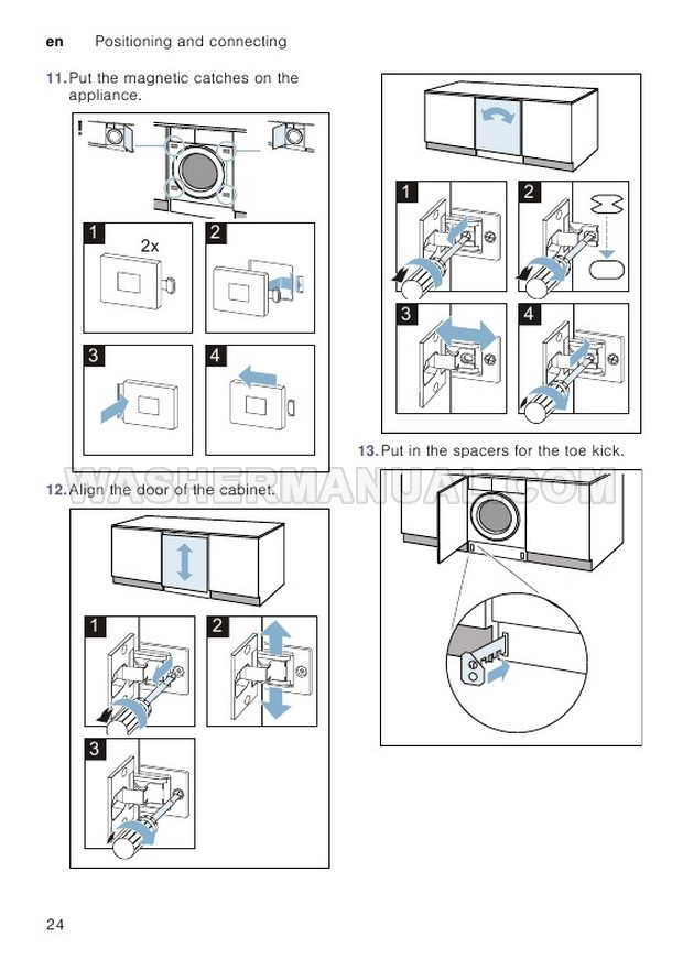 Bosch WIW28500GB Front Load Washing Machine Instruction