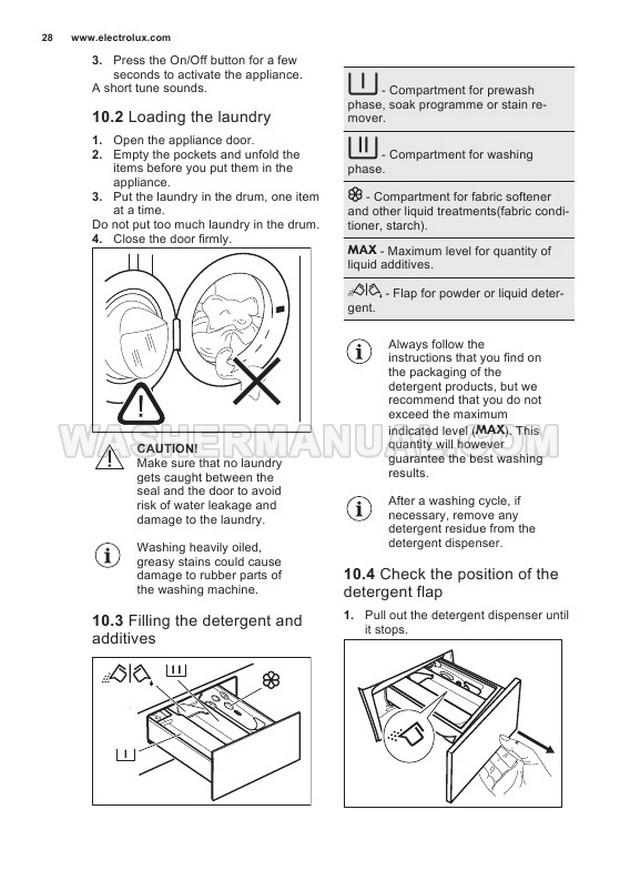 Electrolux E772F402BI Front Load Washing Machine User Manual
