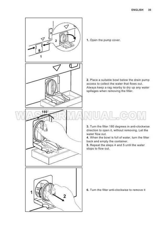 Electrolux E774F402BI Front Load Washer User Manual