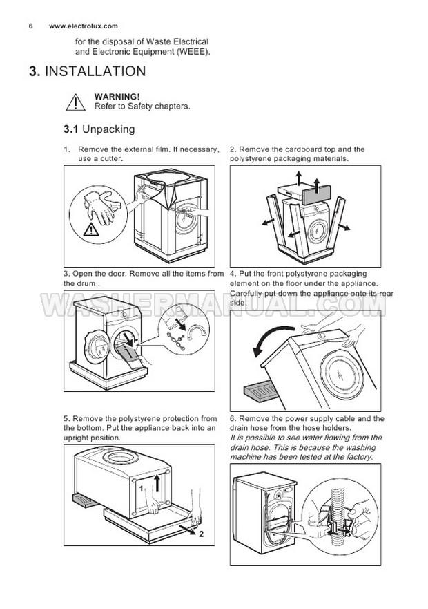 Electrolux EW6F4842AB PerfectCare 600 User Manual