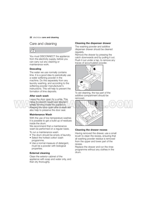 Electrolux EWF1074 Washer User Manual