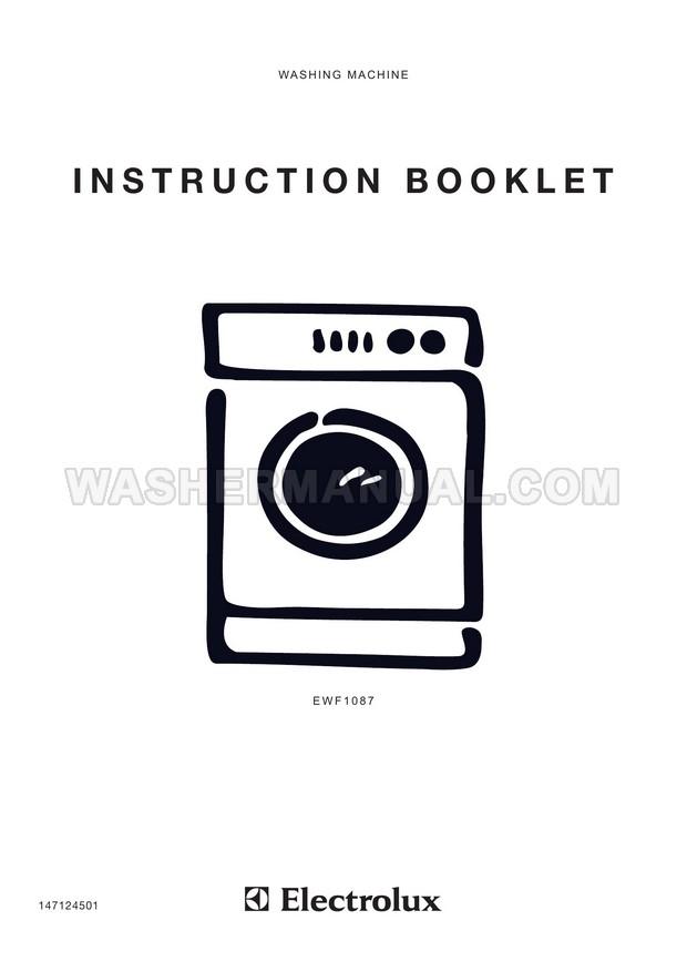 Electrolux EWF1087 Eco Valve Washing Machine Instruction