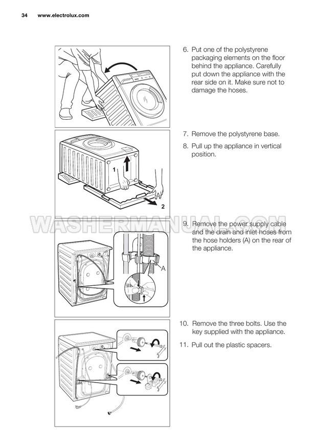 Electrolux EWF14012 Front Load Washing Machine User Manual