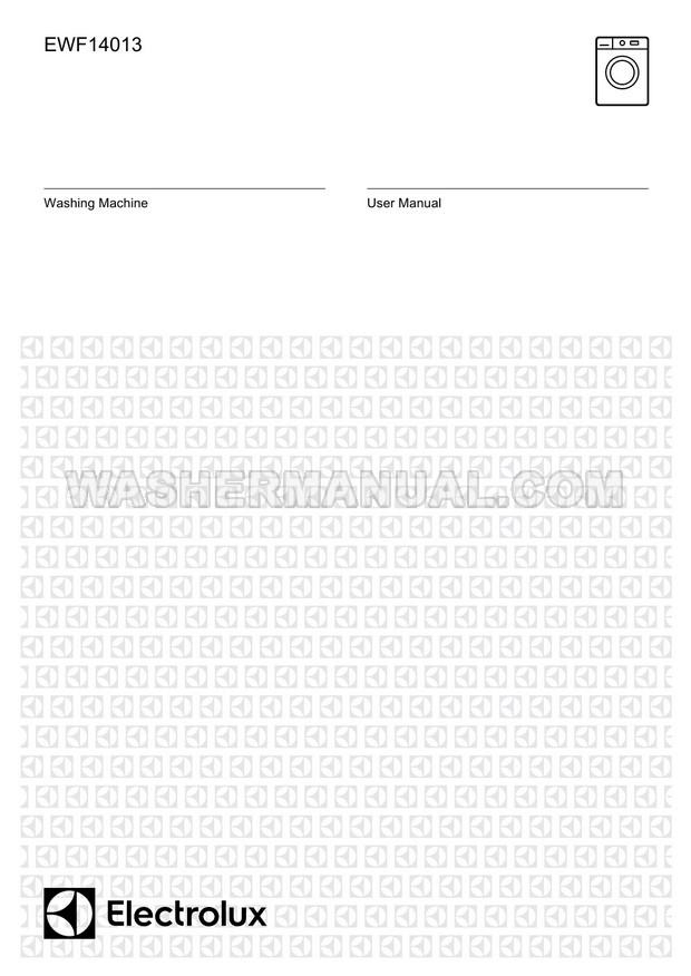 Electrolux EWF14013 UltimateCare User Manual
